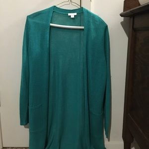 J. Jill Light Green Size Small Women's Long Blouse